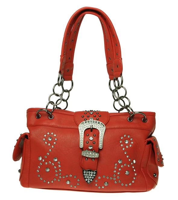 Concealed Carry Handbag Satchel Purse Red