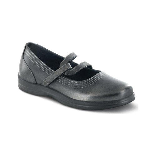 Apex Women's Y Strap Mary Jane Shoes Pewter Size 8 W