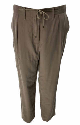 Armani Exchange Women's Taupe Drawstring Trousers Size 8