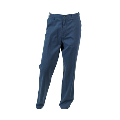 Nautica Men's Classic Fit Flat Front Chino Deck Pants Blue Size 36x34