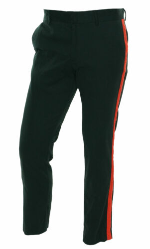 Calvin Klein Men's Exclusive Black & Red Stripe Flat Front Dress Pants