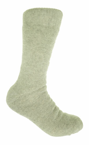 Polar Extreme Men's Thermal Insulated Lined Wool Crew Socks Light Gray