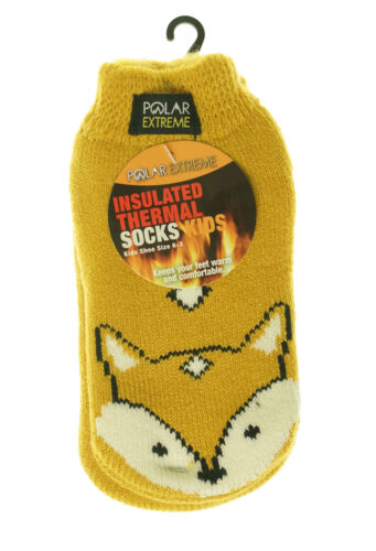 Polar Extreme Heat Children's Low Cut Thermal Footie with Gripper Animals