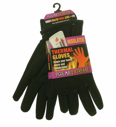 Polar Extreme Heat Women's Insulated Thermal Lined Stretch Gloves Black