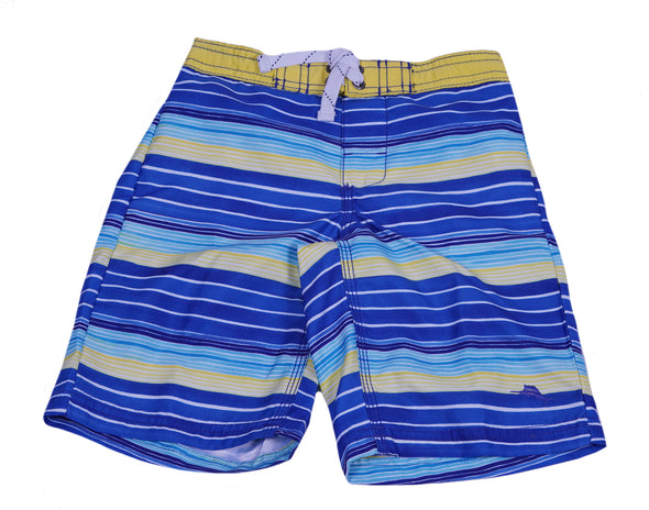 Tommy Bahama Toddler boy's Striped Swim Trunks Blue Yellow Size 4T