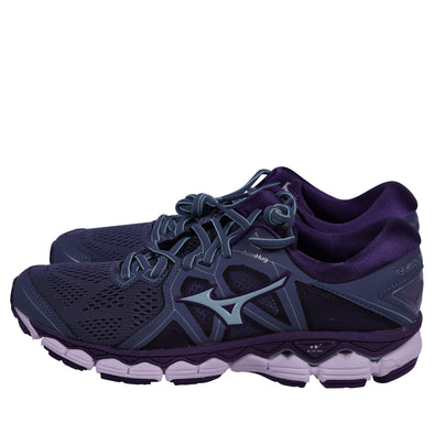 MizunoWomen's Wave Sky Running Athletic Shoes Gray Blue Purple