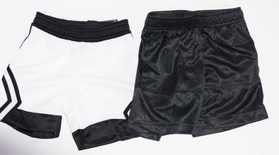 Jordan Air Toddler Boy's 2 Piece Dri Fit Shorts White Black Size 2T