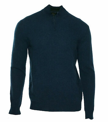 Club Room Men's Quarter Zip Cashmere Sweater Navy Heather Size Medium
