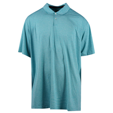Nike Men's Tiger Woods Short Sleeve Dri Fit Stripe Polo Blue White Size 3XL