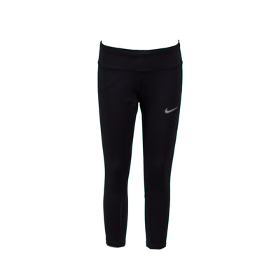 Nike Women's Epic Run Tight Fit Running Capri Tights Black Size Small