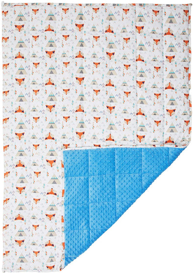 "Blissly Weighted Blanket Kids 7lbs 41""x60"" Organic Cotton/Warm Minky 70-90 lbs"