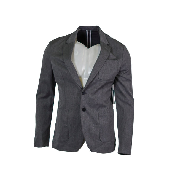 Calvin Klein Men's Patch Pocket Blazer Jacket Gray Size Medium