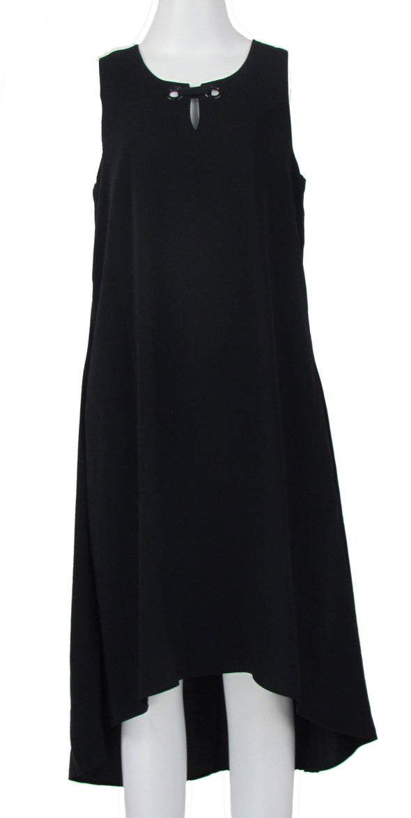 Alfani Women's High Low Trapeze Sleeveless Dress Black Size 8