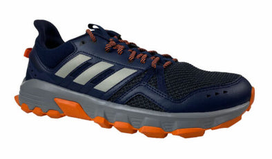 Adidas Men's Rockadia Trail Leather Athletic Hiking Shoes Navy Blue Size 9