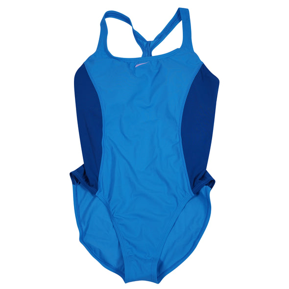 Nike Women's One Piece Athletic Swimsuit Blue Size XL