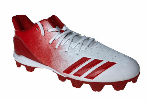 Adidas Men's Icon 4 MD Baseball Cleats Red White Size 8