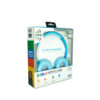 Altec Lansing Kid's 2 in 1 Bluetooth and Wired Headphones Blue