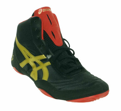 Asics Men's JB Elite V2.0 Wrestling Athletic Shoes Black Red Gold Size 12.5