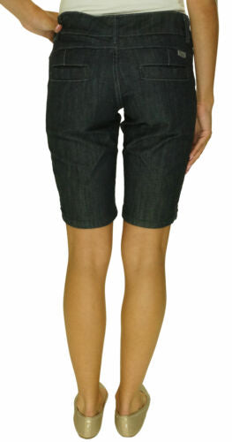 "Cruel Junior's 11"" Slim Fit Low Rise Bermuda Shorts Stretch Dark Wash"