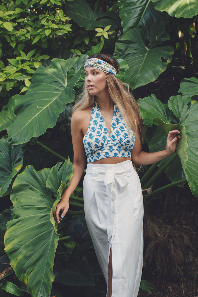 Blue Pottery Ava Crop Top