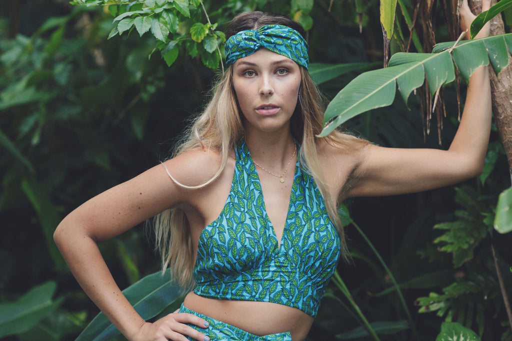 Green Leaf Ava Crop Top