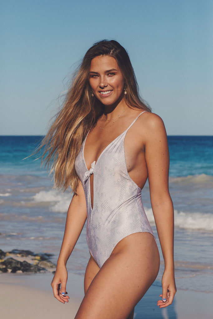Fennel One Piece - Nude Snake