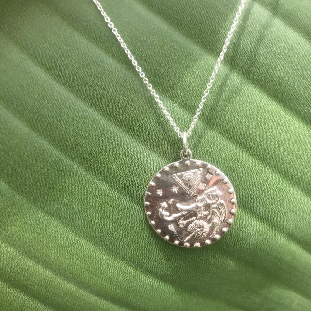 Somers Isle Coin Pendant in Sterling Silver