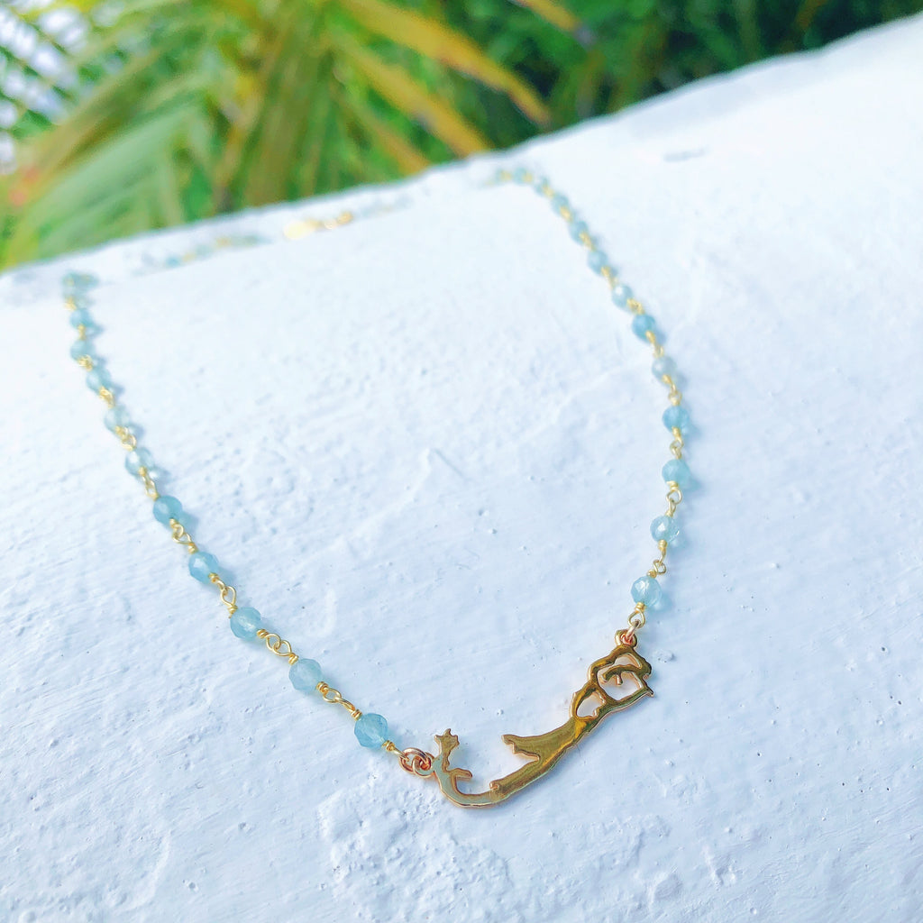 Bermuda Map with a Beaded Necklace