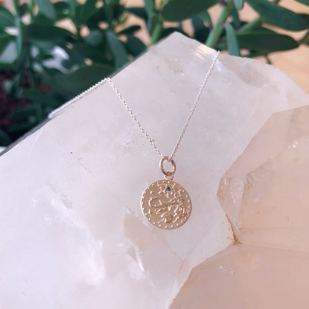 15mm Somers Isle Coin Pendant in Sterling Silver