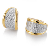 Breuning - Earrings SS/RH/YG Plated - The French Door Jewellers