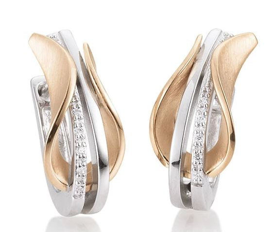 Breuning - 9K White and Rose Gold Earring - The French Door Jewellers