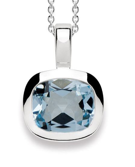 Bastian - Pendant SS with Blue Topaz - The French Door Jewellers
