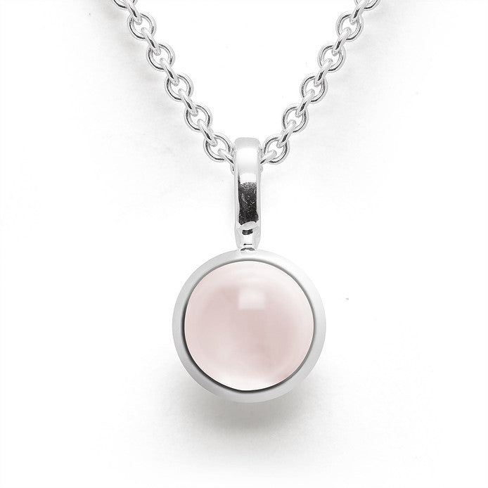 Bastian - Pendant SS with Rose Quartz - The French Door Jewellers