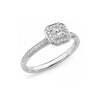 18K White Gold Radiant Cut Diamond Engagement Ring - The French Door Jewellers
