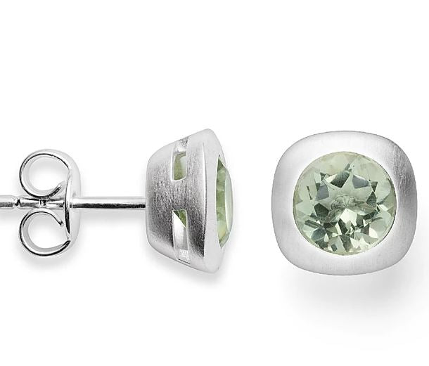 Bastian - Earrings SS with Light Green Amethyst - The French Door Jewellers