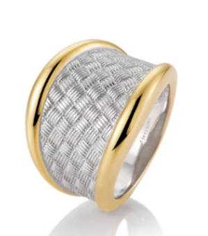 RING SS/RH/YG PLATED - The French Door Jewellers
