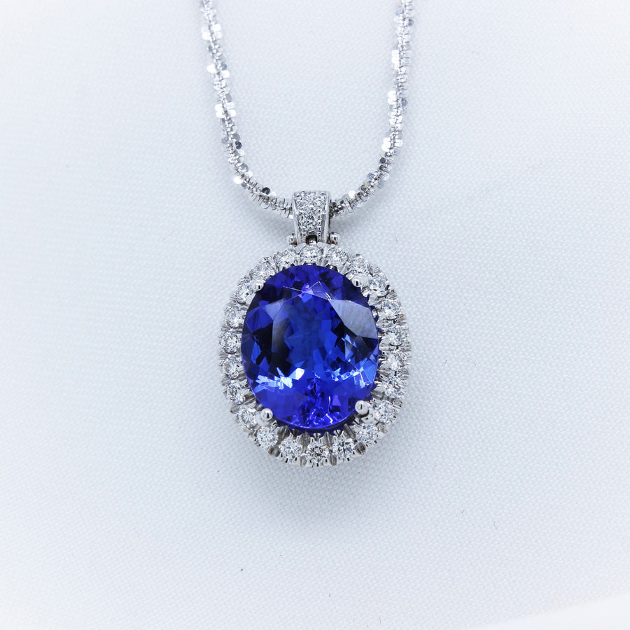 18K Tanzanite and Diamond Necklace - The French Door Jewellers