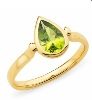 9K Yellow Gold Peridot Ring - The French Door Jewellers