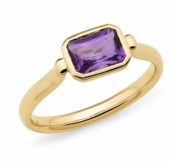 9K Yellow Gold Amethyst Ring - The French Door Jewellers