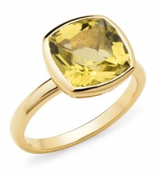 9K Yellow Lemon Quartz Ring - The French Door Jewellers