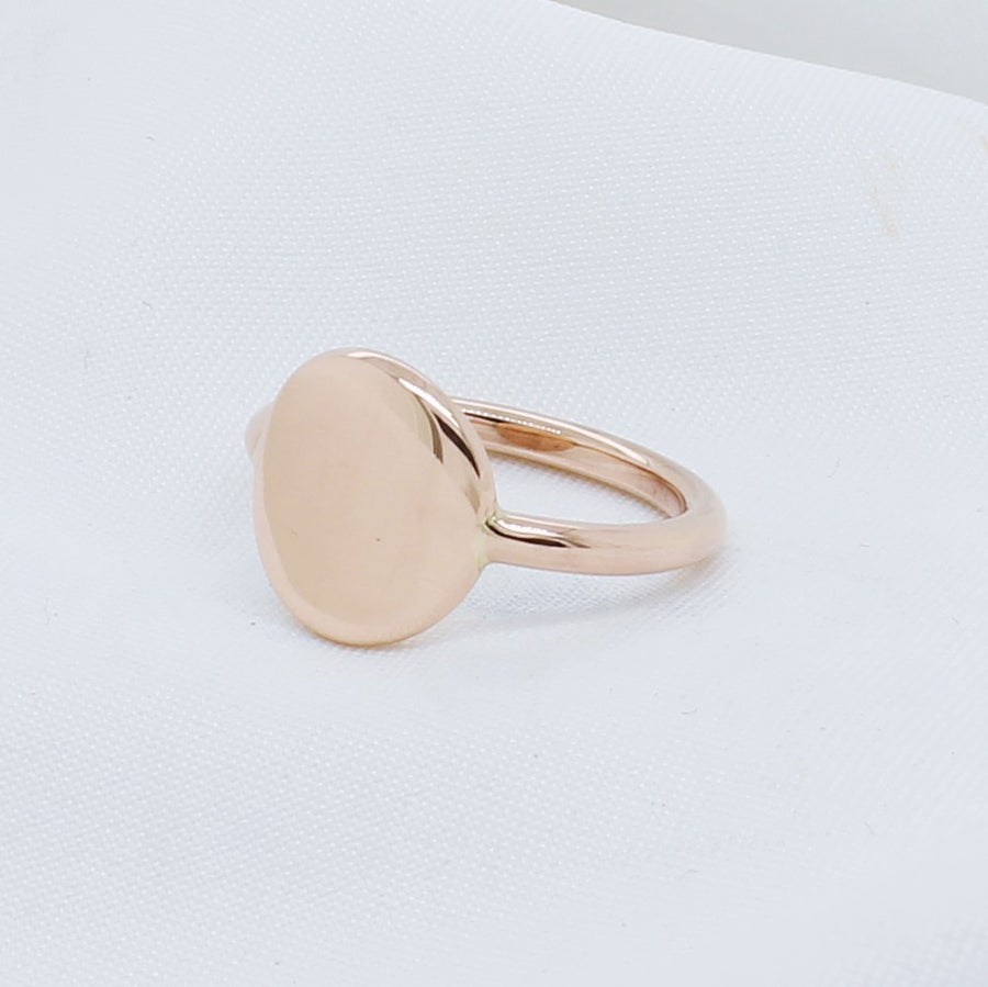 EGS - 9K Rose Gold Signet Ring - The French Door Jewellers