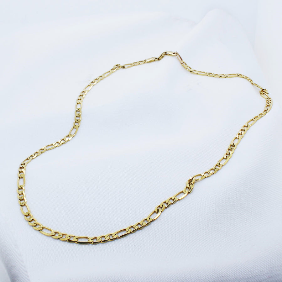 EGS - 9K Yellow Gold Figaro Chain - The French Door Jewellers