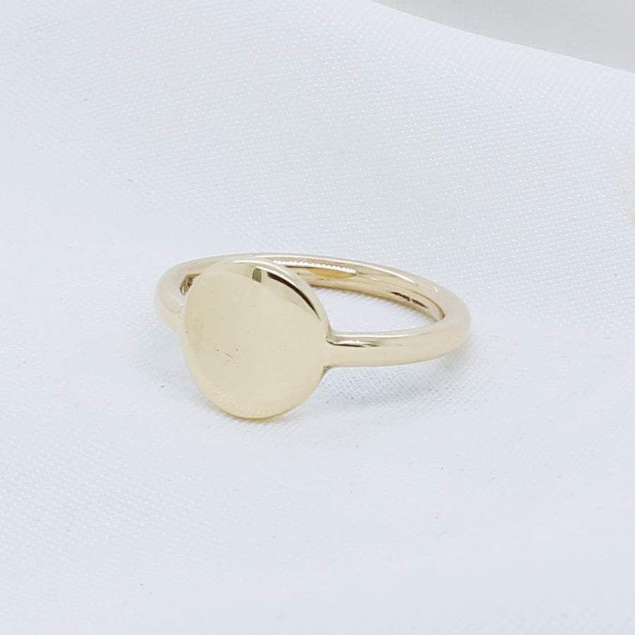 EGS - 9K Yellow Gold Signet Ring (Small) - The French Door Jewellers