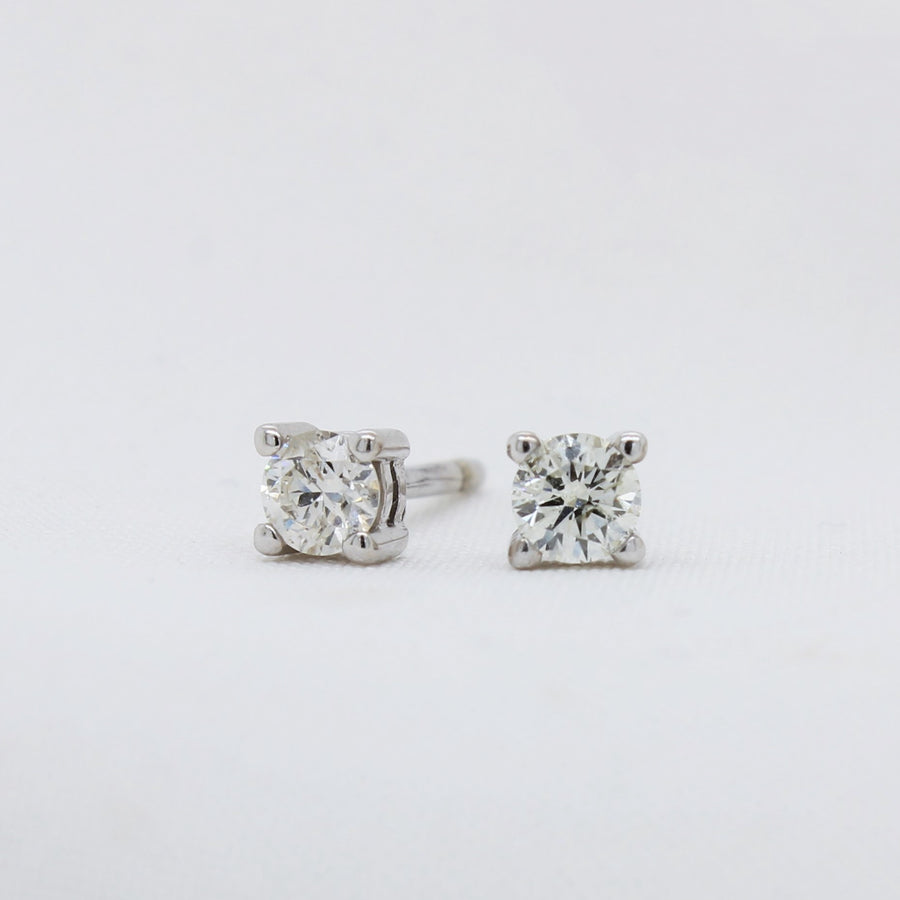 EGS - 9K White Gold Diamond Earrings - The French Door Jewellers