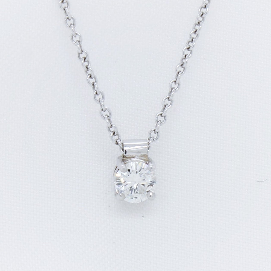 EGS - 9K White Gold Floating Diamond Pendant - The French Door Jewellers