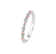 Argyle Pink & White Diamond Stack Ring - The French Door Jewellers