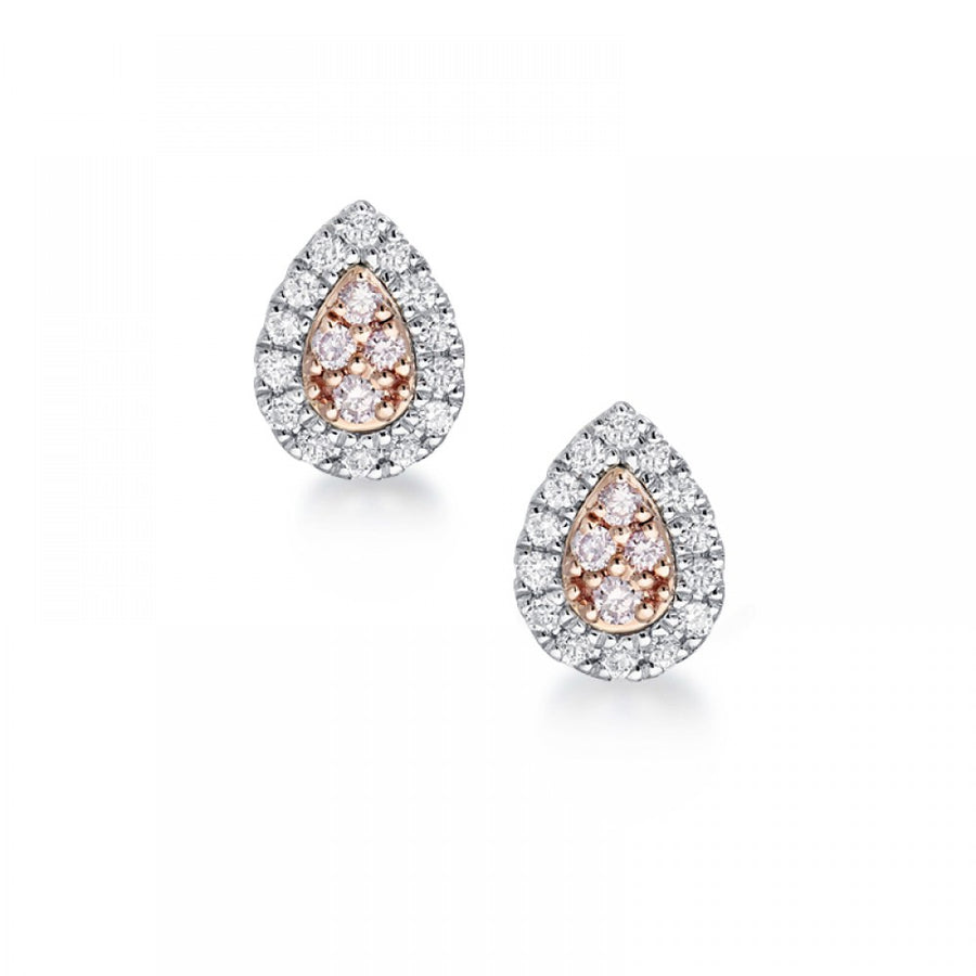 Argyle Blush Talullah Earrings - 18K Rose & White Gold - The French Door Jewellers