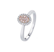 Argyle Blush Lea Ring - 18K Rose & White Gold - The French Door Jewellers