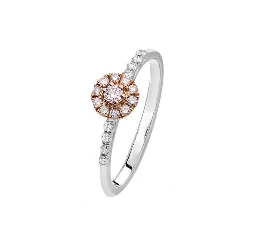 Argyle BLUSH Rose Ring -  18K Rose & White Gold - The French Door Jewellers