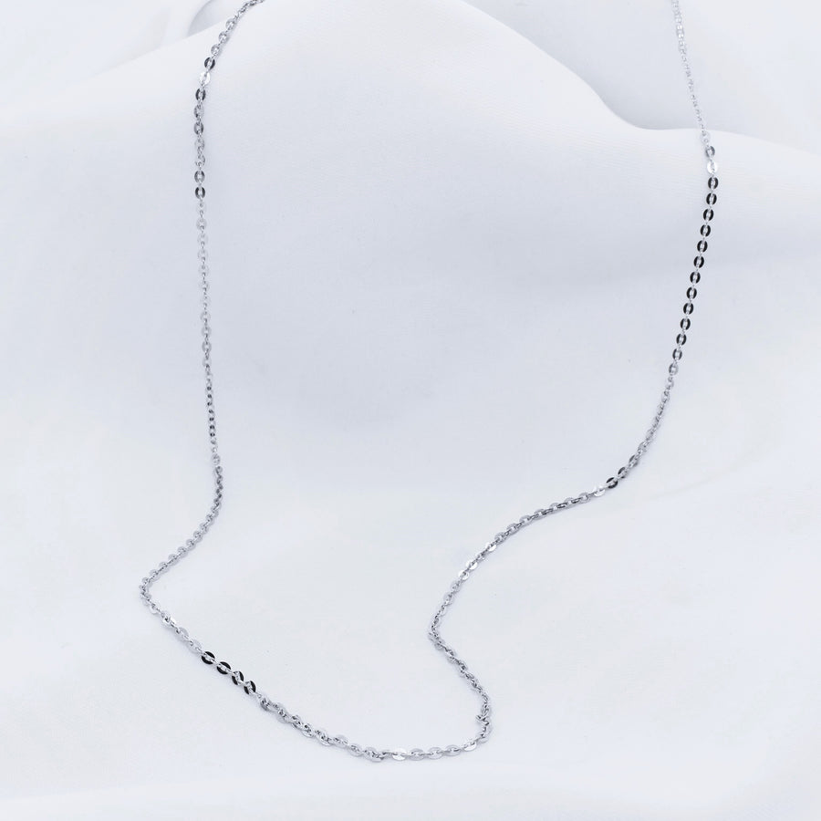 Platinum Diamond Cut Chain - The French Door Jewellers